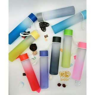 400 ml Portable Gradient Color Frosted Water Tumbler