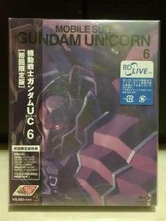 BD 初回版 獨角獸高達 Vol.6 BD Mobile Suit Gundam Unicorn Vol.6 1st Release Limited Edition JP Version