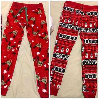 2 x Christmas PJ pants (brand new)