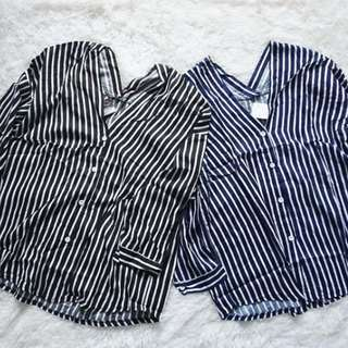 NEW ZR stripe blouse