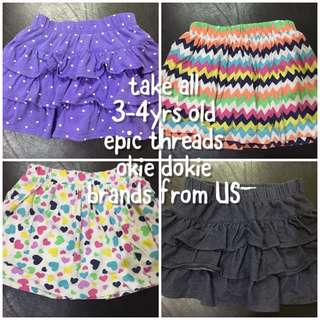 Girls skirt bundle take all size 3-4 yrs old