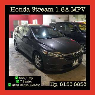 1 Month Contract Honda Stream MPV - Grab Car Rental, Uber welcomed