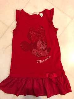 New H&M Disney Minnie red dress size 4-6 years