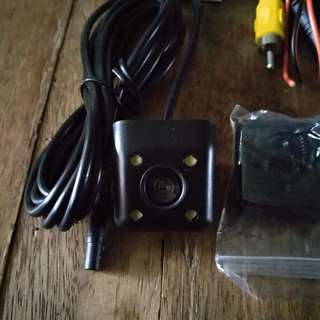 Car Rear Camera with cables and Bluetooth OBD2 adapter