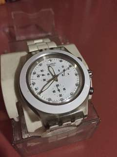 Swatch Irony Diaphane Watch AG2009, Aluminum Chronograph (Good Condition)
