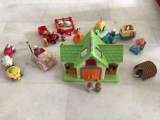ELC farm set plus magnetic vehicle set and 1 big car toy