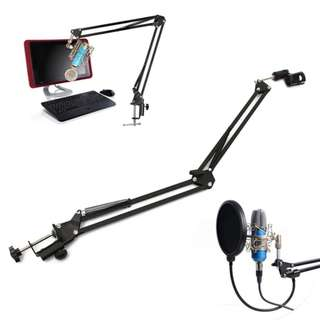 🚚 Microphone Suspension Arm Stand For Broadcast Podcast Boom Scissor Arm