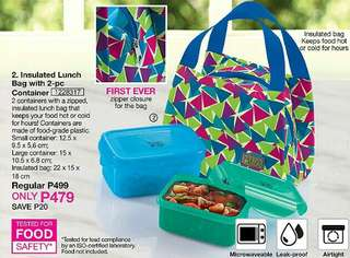 Insulated Lunch Bag with 2-pc Container