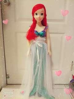🚚 迪世尼小美人魚超大娃娃 芭比娃娃 迪世尼
