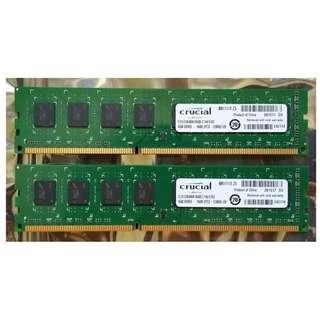 Crucial DDR3 1600mhz  (4gb x2 )