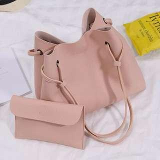 2 in 1 Korean large tote shoulder bag set