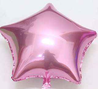 "18"" Star Foil Balloons - Pink, Silver, WITHOUT HELIUM"