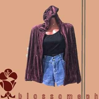 Velvet Jacket with Hood (M-L)