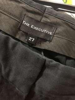 Executive celana bahan hitam size 27