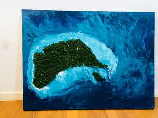 Island painting with texture