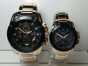 Jam Tangan Alexandre Christie Couple AC 6226mc Gold Ring Hitam