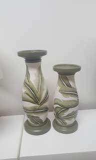 The nature hand made ceramic set by filipino