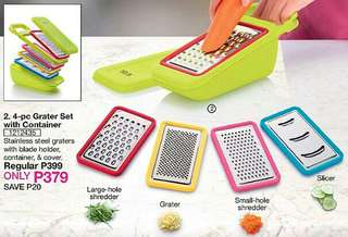 4-pc Grater Set with Container