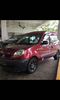 Renault Kangoo van diesel for long term renting