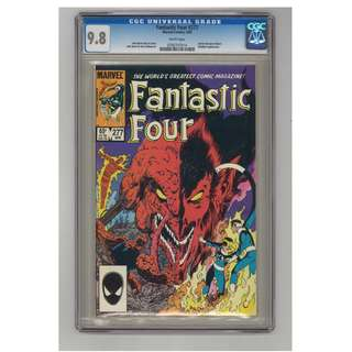 Marvel Comics Fantastic Four #277 White Pages CGC 9.8 John Byrne Copper Age Classic
