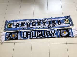 argentina and uruguay scarf (brand new)