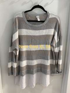 Now Jumper Knit Sweater Top Size XL