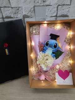 Graduation stitch bouquet