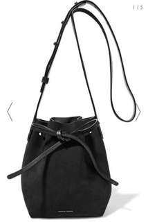 Mansur Gavriel  Black Suede bucket bag