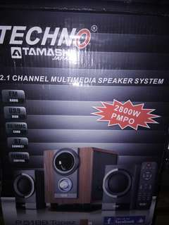 Techno tamashi japan multimedia speaker brand new