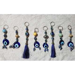 Turkish Evil Eye Keychains