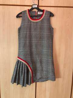 Checkers pleated dress
