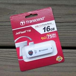 創見USB3.0極速系列 USB3.0 16G JetFlash730隨身碟(HBL限量款)