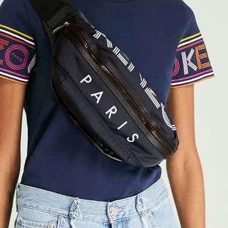 KENZO WAIST BAG (NAVY) 100% ORI