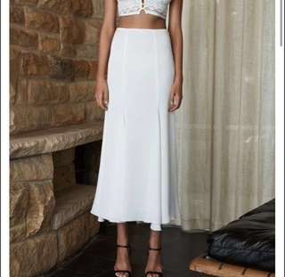 New Shona joy White maxi/midi skirt