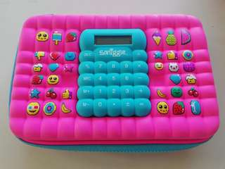 Smiggle hardtop with calculator pink rm69 NEW