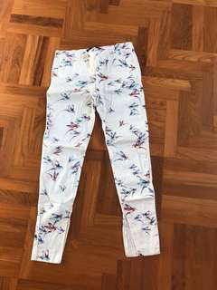 🚚 Zara Bird Print Pants