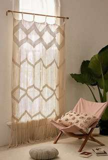 Curtain Macrame Rope Art Tapestry Room Divider Screen Partition