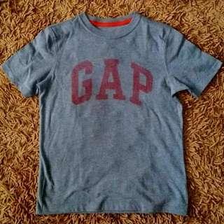 BNWOT Authentic Gap Logo Shirt Boys / Kids Medium 8-9T Grey