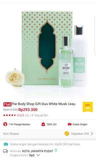 White musk l'eau gift set lotion + body mist