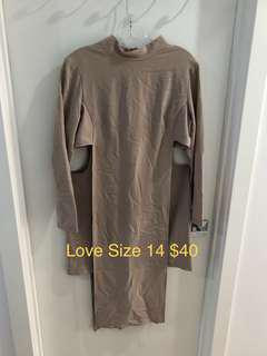 Love Dress Size 14 Cut Out Beige Size 14 New Never Worn Now