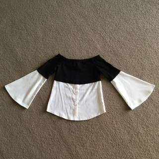 Off shoulder Bell Sleeve Top