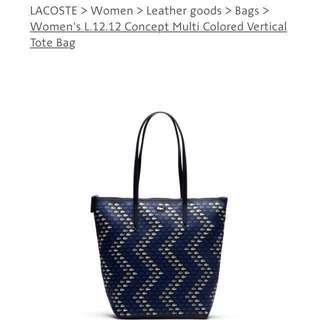 Sales ‼️New Lacoste Bag WOMEN'S L.12.12 CONCEPT MULTI COLORED VERTICAL TOTE BAG NF1614CX Mango Bag Coach Bag iPhone X