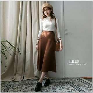 全新  lulu's 腰鬆緊針織長裙