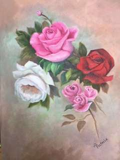 Original Painting by Victoria: Bouquet of Roses