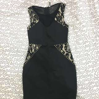 Kitschen Black Lace Dress Size S