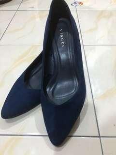 Vincci Suede Blue Heels