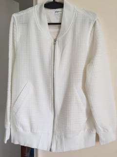 White textured jacket