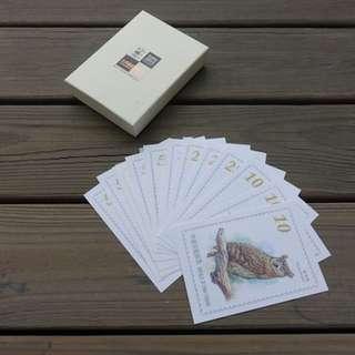 臺北2015第30屆亞洲國際郵展紀念-台灣貓頭鷹明信片