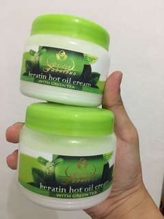 Keratin Hot Oil Cream with Green Tea