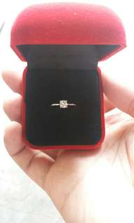 Engagement Ring .37 carats (H-VS1) Brand New